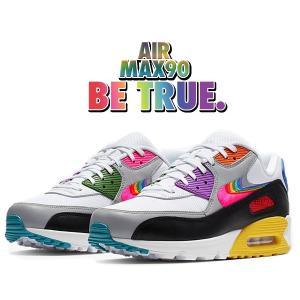 ナイキ エアマックス 90 ビー トゥルー NIKE AIR MAX 90 BETRUE wht/multi-color-blk cj5482-100 メンズ レディース ウィメンズ スニーカー レインボー LGBT|ltd-online