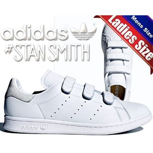 アディダス スタンスミス adidas STAN SMITH CF ftwwht/ftwwht/ftwwht スニーカー ホワイト 白 ベルクロ レディース メンズ|ltd-online
