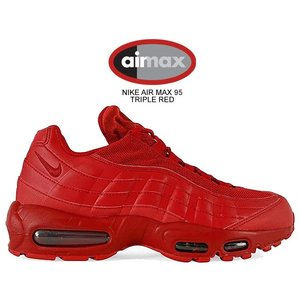 ナイキ エアマックス 95 NIKE AIR MAX 95 TRIPLE RED varsity r...