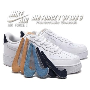 NIKE AIR FORCE 1 07 LV8 3 REMOVABLE SWOOSH white/w...