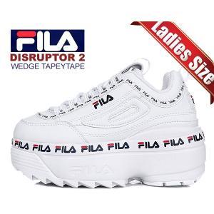 フィラ ディスラプター 2 ウェッジ FILA DISRUPTOR 2 WEDGE TAPEYTAPE WHITE  fs1htb3091x wht スニーカー 厚底 ホワイトレディース ウィメンズ ltd-online