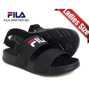 フィラ ドリフター レディース サンダル FILA DRIFTER SD BLACK fs1sib2000x-bbk ブラック スポーツサンダル ストラップサンダル|ltd-online