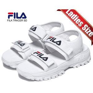フィラ レイ トレーサーサンダル FILA RAY TRACER SD WHITE fs1sib2010x-wwt ホワイト ベルトストラップ レディース サンダル 厚底|ltd-online