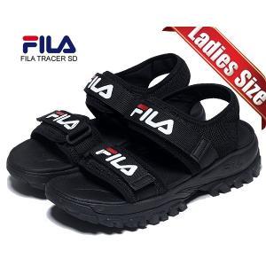 フィラ レイ トレーサーサンダル FILA RAY TRACER SANDAL BLACK fs1sib2011x-blk ブラック ベルトストラップ レディース サンダル 厚底|ltd-online