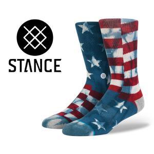 スタンスソックス STANCE BANNER NAVY m311b14ban-nvy メンズ 靴下 星条旗 USA|ltd-online