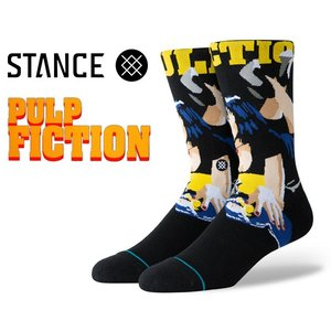 スタンスソックス パルプフィクション STANCE PULP FICTION BLACK m545c19pul-blk 靴下 メンズ EVERYDAY LIGHT CUSHION COMBED COTTON CREW HEIGHT|ltd-online