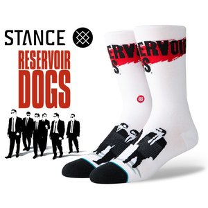 スタンスソックス レザボア ドッグス STANCE RESERVOIR DOGS WHITE m545c19res-wht メンズ 靴下 EVERYDAY LIGHT CUSHION COMBED COTTON CREW HEIGHT|ltd-online
