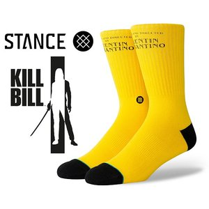 スタンスソックス キルビル STANCE KILL BILL YELLOW m556c19kil-yel メンズ 靴下 CLASSIC MEDIUM CUSHION COM BED COTTON CREW HEIGHT|ltd-online