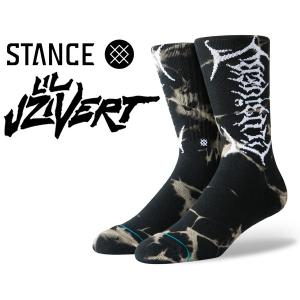 スタンスソックス リル・ウージー・ヴァート STANCE UZI DYE BLACK m556c19udy-blk 靴下 メンズ CLASSIC MIDIUM CUSHION COMBED COTTION CREW HEIGHT ANTHEM|ltd-online