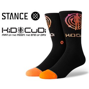 スタンスソックス キッド・カディ STANCE KID CUDI LOGO BLACK m558c19kcl-blk 靴下 メンズ CLASSIC MIDIUM CUSHION POLY BLEND CREW HEIGHT ANTHEM|ltd-online