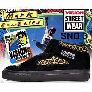 ヴィジョン VISION スニーカー レディースサイズ VISION STREET WEAR SND 3 LEOPARD スケートボード SK8 スケシュー BMX マークゴンザレス VISION ダンス SALE|ltd-online