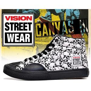 ヴィジョン VISION スニーカー キャンバス ハイ レディースサイズ VISION STREET WEAR CANVAS HI SKALL スケートボード BMX ダンスシューズ VISION|ltd-online