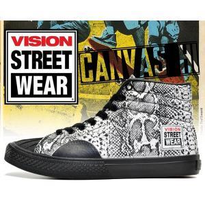 ヴィジョンストリートウェア VISION レディース スニーカー キャンバス ハイ VISION STREET WEAR CANVAS HI SNAKE スネーク パイソン 蛇 スケートボード ダンス|ltd-online