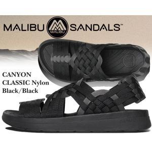 マリブ サンダルズ キャニオン ナイロン MALIBU SANDALS CANYON NYLON black/black ナイロン サンダル スポーツサンダル コンフォートサンダル メンズ サンダル|ltd-online