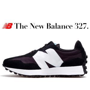 ニューバランス 327 NEW BALANCE MS327CPG BLACK Width D スニー...