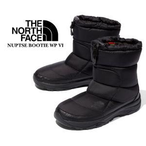 ノースフェイス ヌプシブーツ 6 THE NORTH FACE NUPTSE BOOTIE WP VI BLACK/BLACK nf51873-k 撥水 ウォータープルーフ ブラック|ltd-online