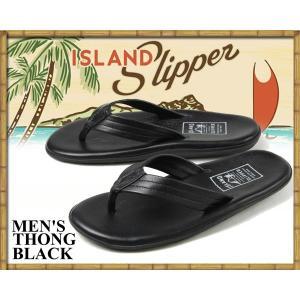 アイランドスリッパ ISLAND SLIPPER THONG BLACK SANDAL PB202 / BLACK メンズ サンダル トングサンダル ビーチサンダル レザーサンダル メイド・イン・ハワイ|ltd-online