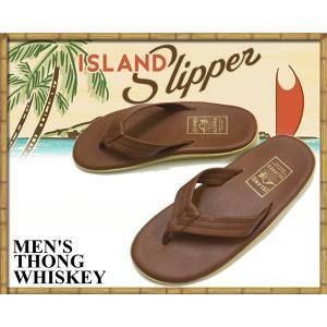 アイランドスリッパ ISLAND SLIPPER THONG WHISKEYSANDAL PT202 / ウイスキー メンズ サンダル トングサンダル ビーチサンダル レザーサンダル ハワイ|ltd-online