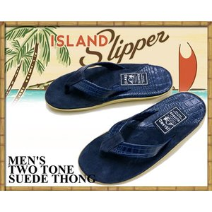 アイランドスリッパ ISLAND SLIPPER TWO TONE SUEDE THONG IRIS BARC / NAVY SUEDSANDAL PT205 レザー スウェード スエード トング サンダル ネイビー|ltd-online