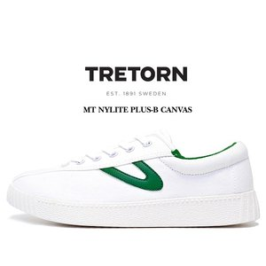 トレトン ナイライト プラス スニーカー TRETORN MT NYLITE PLUS-B CANVAS VINTAGE WHITE/VINTAGE WHITE/GREEN メンズ スニーカー カジュアル ホワイト グリーン|ltd-online
