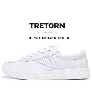 トレトン ナイライト 2 プラス レザー スニーカー TRETORN MT NYLITE 2 PLUS-B LEATHER VINTAGE WHITE メンズ スニーカー レザー カジュアルシューズ ホワイト|ltd-online