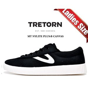 トレトン ナイライト プラス レディース TRETORN MT NYLITE PLUS-B CANVAS BLACK/BLACK/WHITE  レディース スニーカー キャンバス カジュアル ブラック|ltd-online