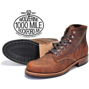 ウルヴァリン 1000マイルブーツ WOLVERINE 1000MILE BOOTS EVANS BROWN LEATHER MADE IN USA w40049 ブラウン ホーウィン クロムエクセル レザー メンズ ブーツ|ltd-online