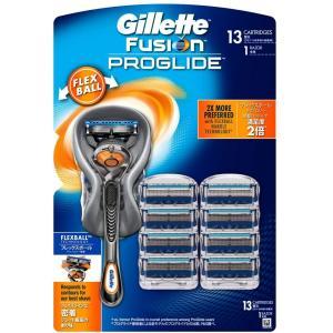 ジレット 髭剃り PROGLIDE FLEXBALL M H+13B ジレット プログライド フレックスボール マニュアル 送料無料|lua