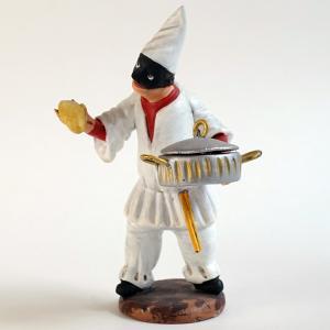 ナポリの幸運のお守り!パンと鍋を持ったプルチネッラL|lucania-arti