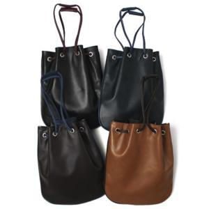 チセイ / シセイ / Cisei / リンドス レザー 巾着 バッグ / 返品・交換可能|luccicare