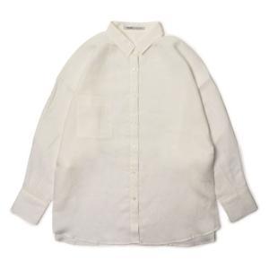 【国内正規品】【LADIES】S/S 新作 upper hights ( アッパーハイツ ) / THE SHIRT 17 / コットン リネン オーバーサイズ 2Way シャツ|luccicare
