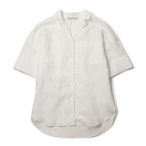 【国内正規品】【LADIES】S/S 新作 upper hights ( アッパーハイツ ) / THE SHIRT 24 / リネン混 半袖 開襟 シャツ|luccicare