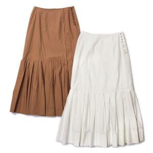 ラシュモン / Lachement / コットン 裾プリーツ マキシ スカート / セール / 返品・交換不可|luccicare