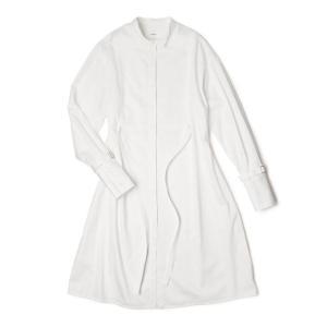 【LADIES】Mhairi ( マイリ ) / コットン ベルト付 ビック シャツ【ホワイト】【送料無料】|luccicare