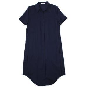 【LADIES】EQUIPMENT ( エキップモン ) / SHORT SLEEVE PASCAL TUNIC / 半袖 ロングシャツ【ネイビー】【送料無料】|luccicare