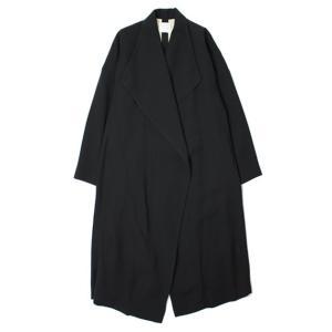 【LADIES】forte_forte ( フォルテフォルテ ) / レーヨン ウール ロング コート【ブラック】【送料無料】|luccicare