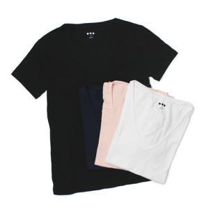 スリードッツ / three dots / Brenda ( ブレンダ ) / Sueded Jersey /コットン Vネック Tシャツ|luccicare