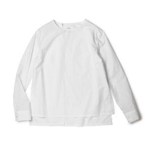 【LADIES】Mhairi ( マイリ ) / コットン ビンテージ ワッシャー トップ【ホワイト】【送料無料】|luccicare
