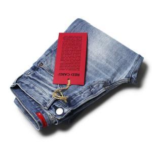 【LADIES / UNISEX】RED CARD ( レッド カード ) / No Gender 78 / ウォッシュド デニム パンツ【ユーズドブルー/kita-Light Used】|luccicare