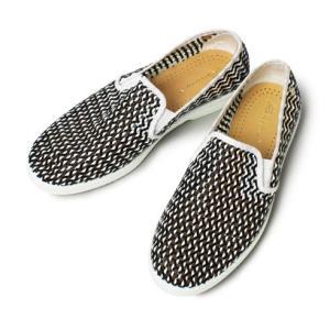 【LADIES】Rivieras Leisure Shoes / リヴィエラ レジャー シューズ / LOAD NOIR / レザー メッシュ スリッポン【ブラック】|luccicare