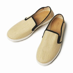 【LADIES】Rivieras Leisure Shoes / リヴィエラ レジャー シューズ / MONTECRISTI NOIR / ラフィア スリッポン【ナ|luccicare