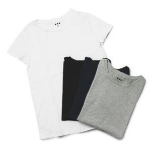 スリードッツ / three dots / Rita / コットン クルーネック Tシャツ|luccicare