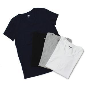 スリードッツ / three dots / Nicole / コットン Vネック Tシャツ / セール / 返品・交換不可|luccicare