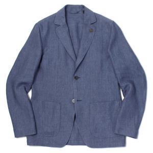 ラルディーニ / LARDINI / シャツ ジャケット / リネン100% / 2釦 2パッチ / JT AMAJ/ELC1388 / セール / 返品・交換不可 luccicare