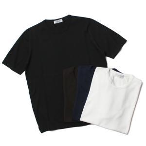 【 再入荷 】グランサッソ / GRANSASSO / クルーネック ニット Tシャツ / 12G ソフト コットン / 58138 / 返品・交換可能 luccicare
