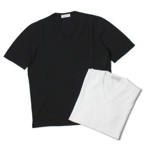 グランサッソ / GRANSASSO / Vネック ニット Tシャツ / 12G ソフト コットン / 58183 / 返品・交換可能 luccicare
