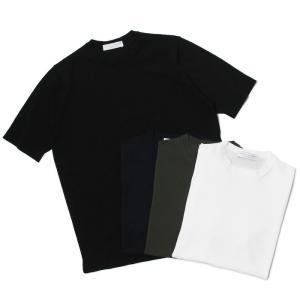 フィリッポ デ ローレンティス / FILIPPO DE LAURENTIIS / ニット Tシャツ / コットン クレープ / ストレート フィット / TS00MC06 / 返品・交換可能|luccicare