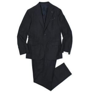 デ ペトリロ / De Petrillo / ワンプリーツ スーツ / ナチュラルストレッチ ウール セミフラノ 3B 段返り / LINEA NAPOLI / NAPOLI / ABITO / 返品・交換可能|luccicare