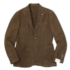 L.B.M.1911 / ジャケット / リネン100% 製品染め 2B 2パッチ / ジャック スリム / JACK SLIM / 0129705833 / セール / 返品・交換不可|luccicare