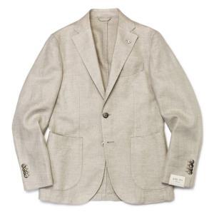 L.B.M.1911 / ジャケット / リネン コットン 製品洗い 2B 2パッチ / ジャック スリム / JACK SLIM / 0129865784 / セール / 返品・交換不可|luccicare